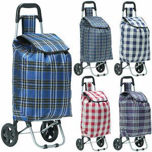 Shopping Trolley Bag Cart Folding 2 Wheel Light Case Supermarket Lugage Portable
