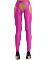 Women's Lingerie Open Crotch Long Stockings Suspender Pantyhose Tights Nightclub
