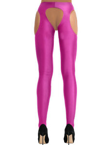 Women Hollow Out Open Crotch Pantyhose Long Stockings Spandex Lingerie Tights