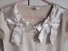 R.F. Inter Remix White Bow Knit Top Size 8