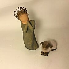 Willow Tree Little Shepherdess with Lamb Nativity Figurine 26442 Susan Lordi