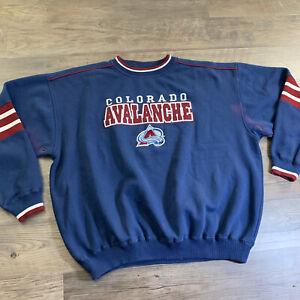 Vtg Lee Sport Colorado Avalanche NHL Mens XXL 2X Embroidered Sweatshirt/Sweater
