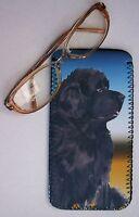 NEWFOUNDLAND DOG NEOPRENE GLASSES CASE POUCH DESIGN SANDRA COEN ARTIST PRINT