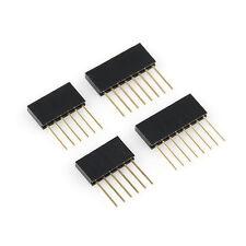 4pcs 2.54 mm Stackable Long Legs Female Header Arduino Shield Header 6-Pin 8Pin