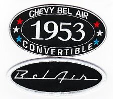 1953 CHEVY BEL AIR CONVERTIBLE SEW/IRON ON PATCH BADGE EMBLEM EMBROIDERED CAR