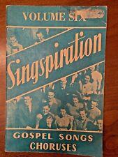 Vintage 1951 Singspiration Gospel Songs Choruses - Volume Six