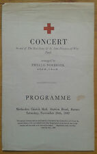 Concert in aid of the Red Cross programme Barnes Phyllis Norbrook 28/11/1942