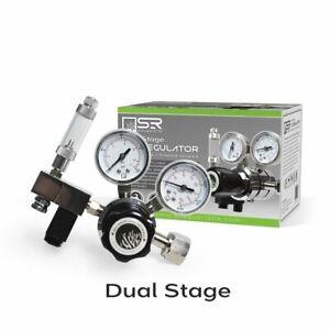 SR Aquaristik  Dual Stage CO2 Regulator Kit with Bubble Counter & Solenoid Valve