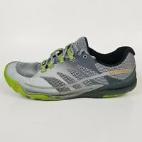 Merrell All Out Charge Trail Running Shoe Men's 10 Grey/Lime Green $135