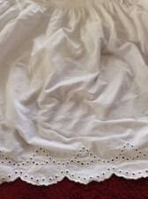 SIMPLY SHABBY CHIC White Dust Ruffle EYELET Scalloped Embroidery TWIN Bedskirt