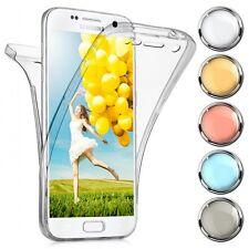 Double TPU Case Schutz Hülle Silikon Handy Tasche Soft Dünn Cover Transparent