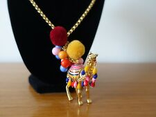 KATE SPADE SPICE THINGS UP CAMEL PENDANT NECKLACE. NEW