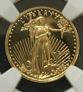 2001-W PF69 Ultra Cameo 1/10 oz Gold American Eagle Coin (NGC)