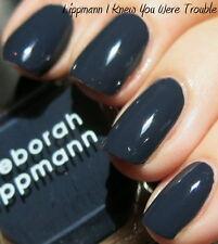 NEW! Deborah Lippmann I KNEW YOU WERE TROUBLE Nail Polish ~ Blackened Navy Blue