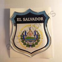 Pegatina El Salvador Escudo de Armas 3D Emblema Vinilo Adhesivo Resina Relieve