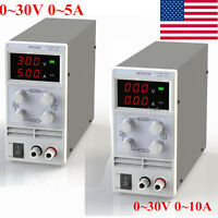 5A/10A 30V Variable  Precision Switching DC Power Supply Adjustable Digital Lab