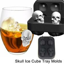 3D Skull Shape Ice Cube Mold Maker Silicone Bar Party Tray Halloween Xmas Gift L