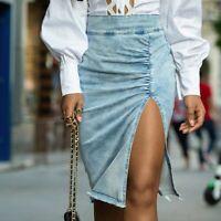 By Alina MEXTON Sexy Jeans Rock Minirock Damenrock Jeansrock 34 - 38 #D326