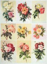 Carta di riso Vintage Piccole Rose Per Decoupage Decopatch Scrapbook Craft sheet