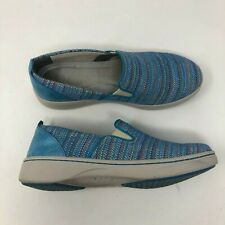 Dansko Belle Shoes Sneakers Womens 38 US 7.5 Blue Slip On Comfort Canvas A65