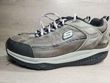 Sketchers Shape Ups Men's Sz 9 EW Gray Black Leather Walking Shoes 52000EW (a11