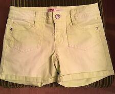 Women's L.E.I NEON Green Ashley Low Rise Shorts Size 5