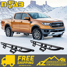 N-FAB Rock Rail Steps For 18-20 Ford Ranger Crew Cab Textured Black F194RKRCCS4
