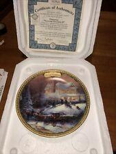 "Thomas Kinkade's ""Simpler Times"" 2003 Xmas ""Victorian Christmas Ii"" Plate"