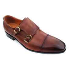 Rich Mbariket 'Sartorial' Brown Genuine Leather Double Monk Dress Shoes 8 M