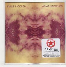 (GN812) Emilie & Ogden, What Happened - 2015 DJ CD