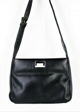 NAVY BLUE Shoulder Bag Soft Genuine Leather Handbag Purse Zip Closure Unbranded