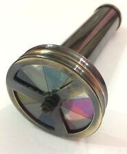 Antique Vintage Maritime Optical Item Finish Brass Double Wheel ~ Kaleidoscope