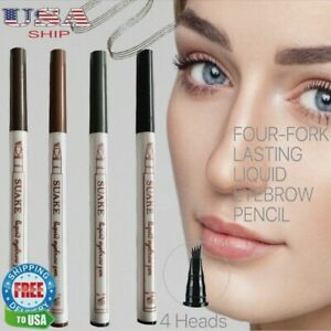 Long Lasting Waterproof Microblading Liquid Eyebrow Pen Pencil Tattoo Pen Fork