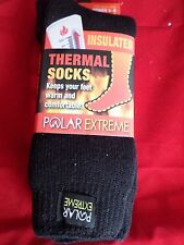 1 Pair Polar Extreme Insulated Thermal Socks Women Non Slip Grip Made USA 9-11