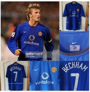 manchester united shirt david beckham nike 2002/03
