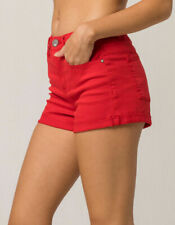 Tilly's RSQ Sunset High Rise Red (Size 1) Womens Denim Shorts