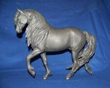 Kero, Friesian horse resin by Sheri Rhodes