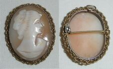 wunderschöne alte Gemme in Silber gefaßt als Brosche oder Anhänger  (c8136)
