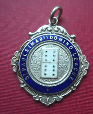 Silver & Enamel Dominoes Fob Medal 1946 St. Paul's Domino League - Queens Head