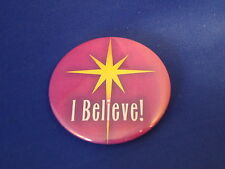 """Lot of 5 """"I Believe!"""" Buttons pins Motivational Christmas Church faith Vow New!"""