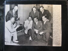 Ty Cobb Wire Photo 7/10/51 The Cameraman w/George Kell & Stan Musial