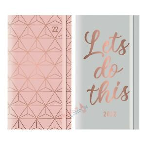 2022 Week To View Slim Diary Full Year Organiser Geometric & Typography Design