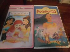 Princess Stories Volume One & Pocahontas 2 VHS Videos Not Rentals