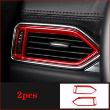 For Mazda CX-5 CX5 2017 2018 Red ABS Interior Side Air Vent Outlet Cover Trim