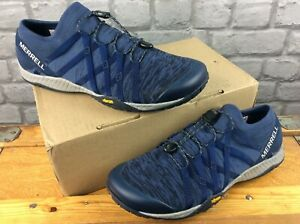 MERRELL MENS BAREFOOT TRAIL GROVE 4 NAVY BLUE WALKING SHOES RRP £80 C