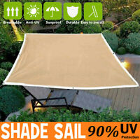 Outdoor Sun Shade Sail Net Mesh Sunscreen Garden Cover UV Canopy Awning Sunshade