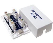 cat5e Ethernet Junction Box 110 Punch Down White LAN Network Ethernet