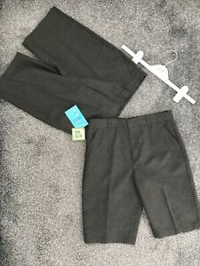Debenhams Boys School Shorts. Age 11, Grey. 2x Pairs, BNWT