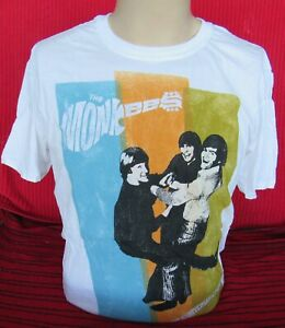 The Monkees - 45th Anniversary Tour - White - Large T-Shirt - NEW