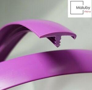 20 METRE - 15mm Purple T Trim Single Lip Knock on Edging for Furniture Board
